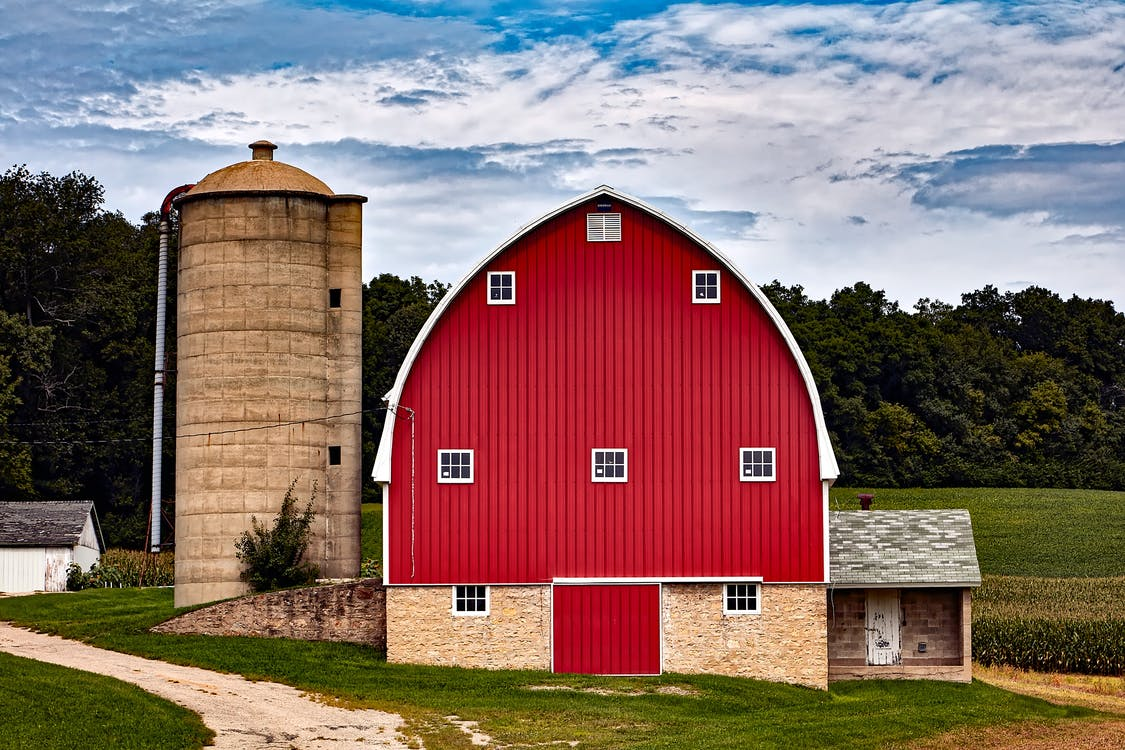 arkitektur, bete, bondgård