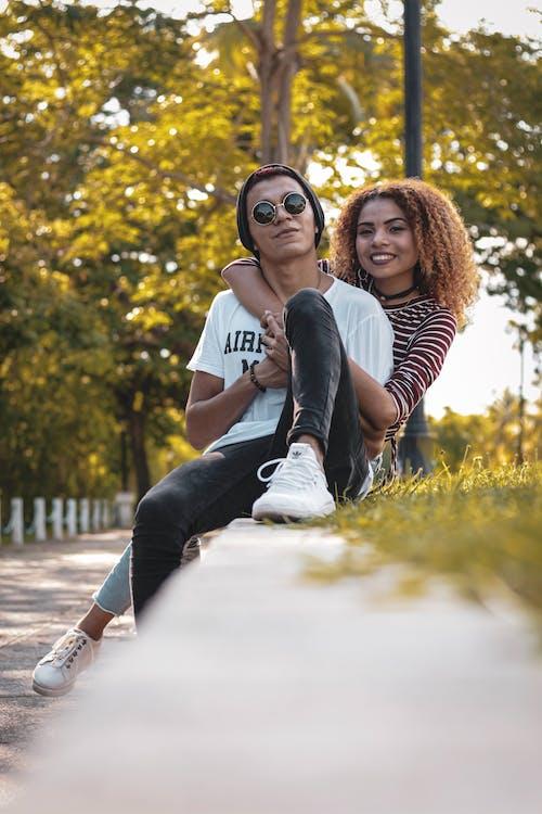 bersama, cinta, duduk