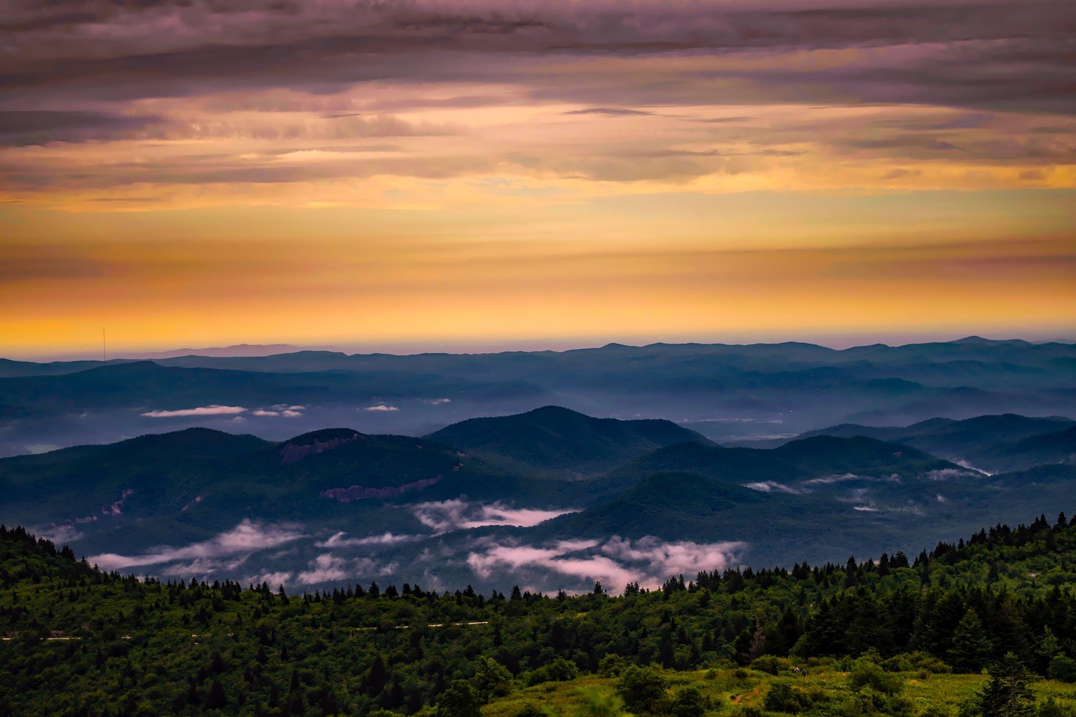 Kostenloses Stock Foto zu dämmerung, landschaft, berge, natur