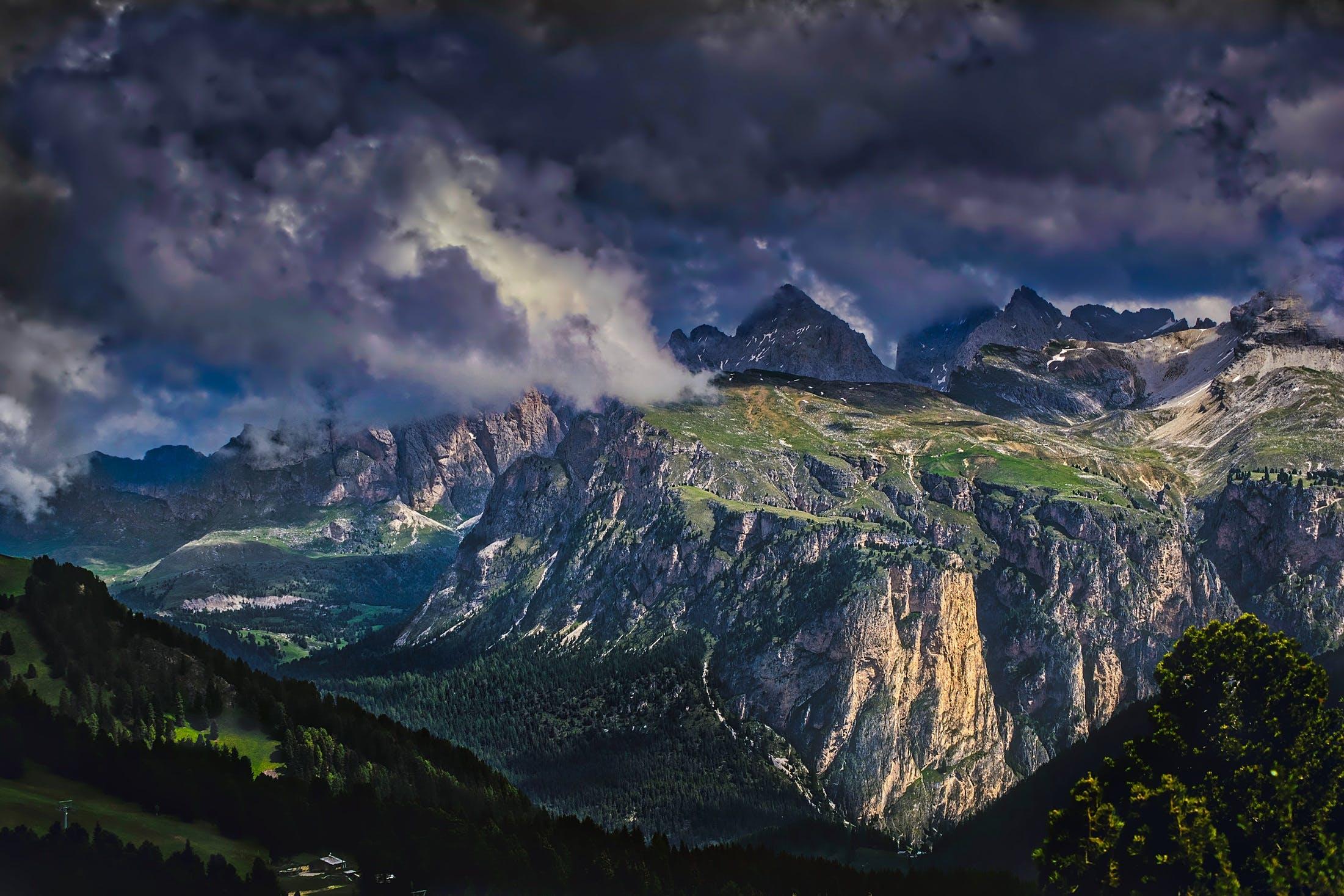 Darmowe zdjęcie z galerii z chmury, góry, krajobraz, natura