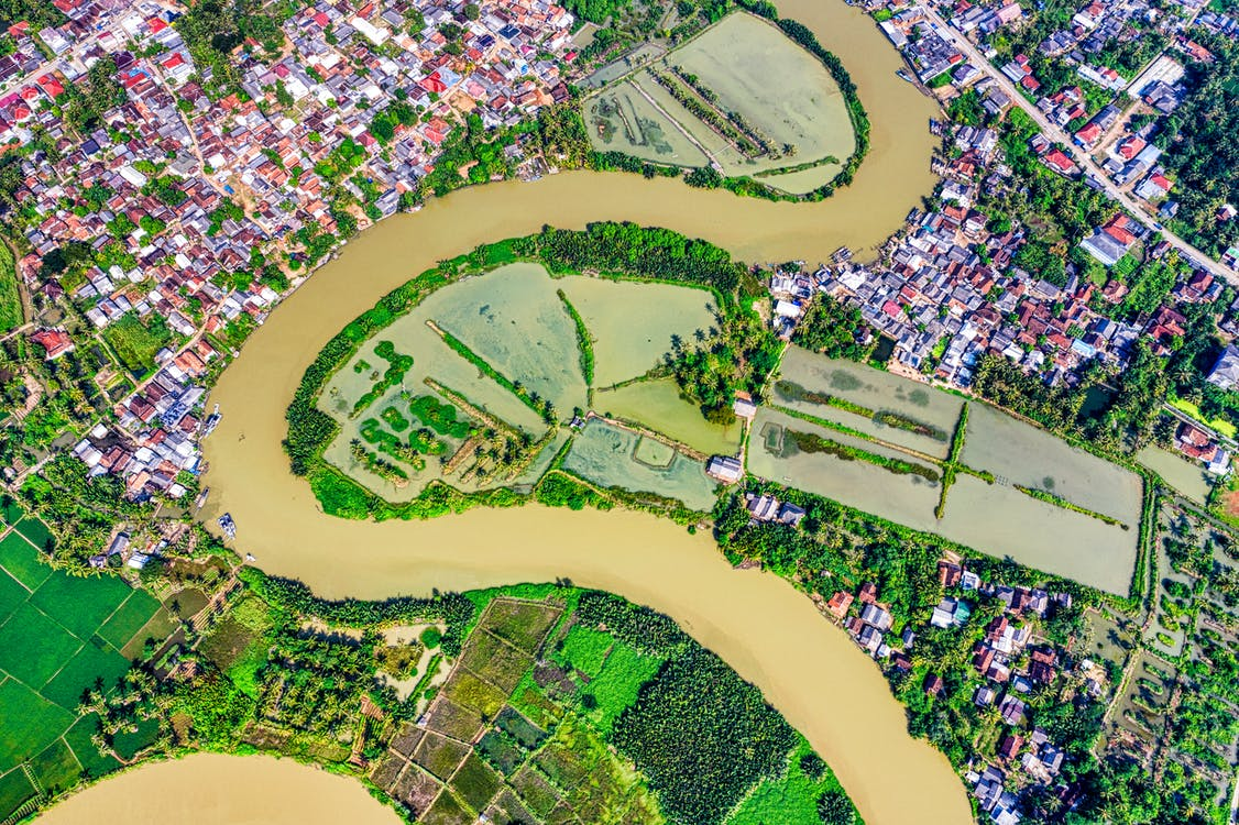 Aerial View Photo of River