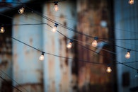 lights, hanging, illuminated