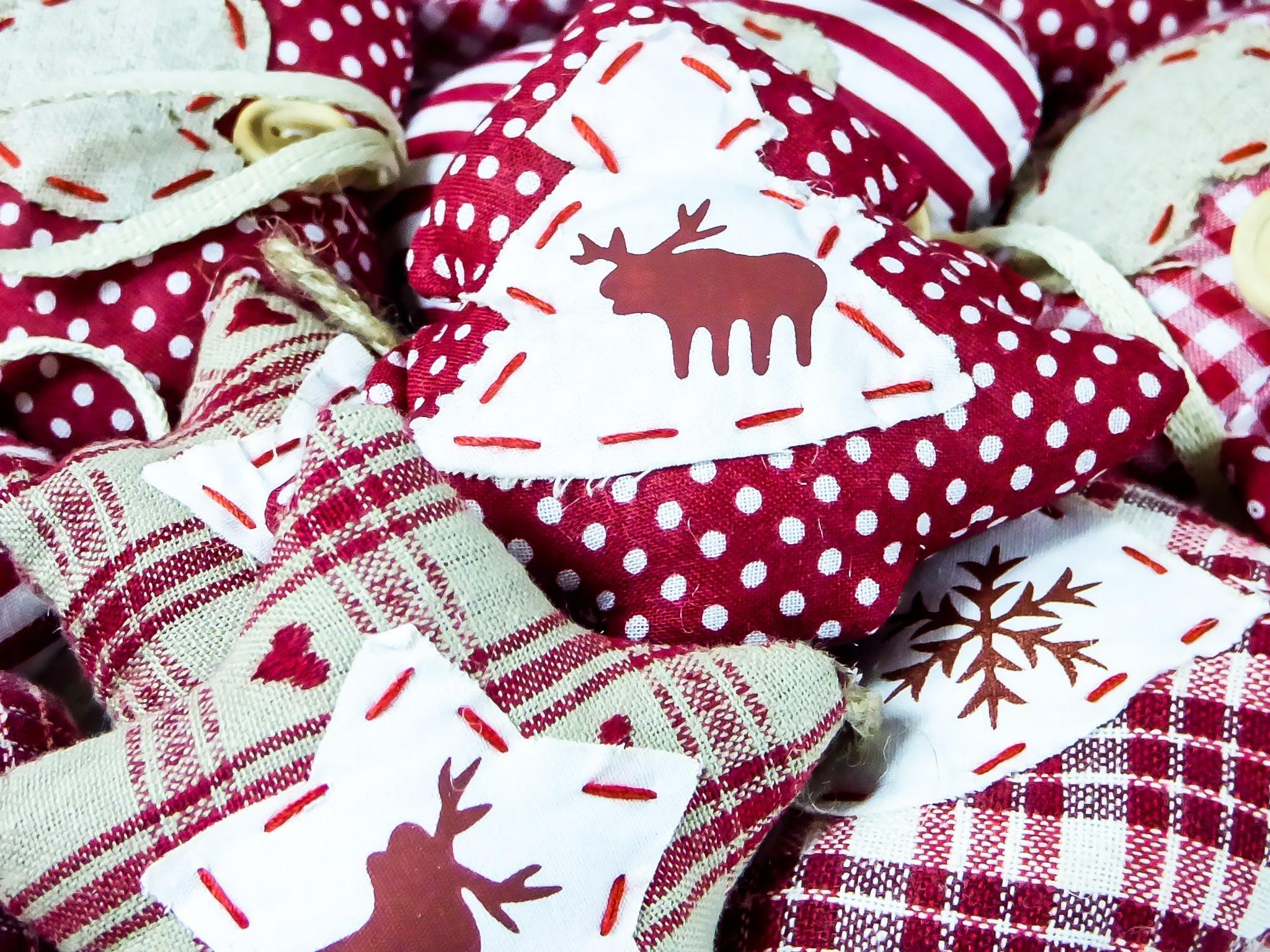 High Angle View of Christmas Decorations