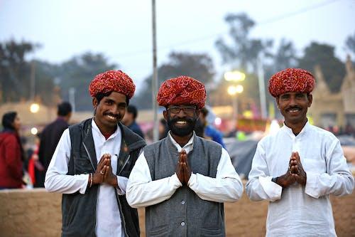 Three Men Showing Prayer Hands