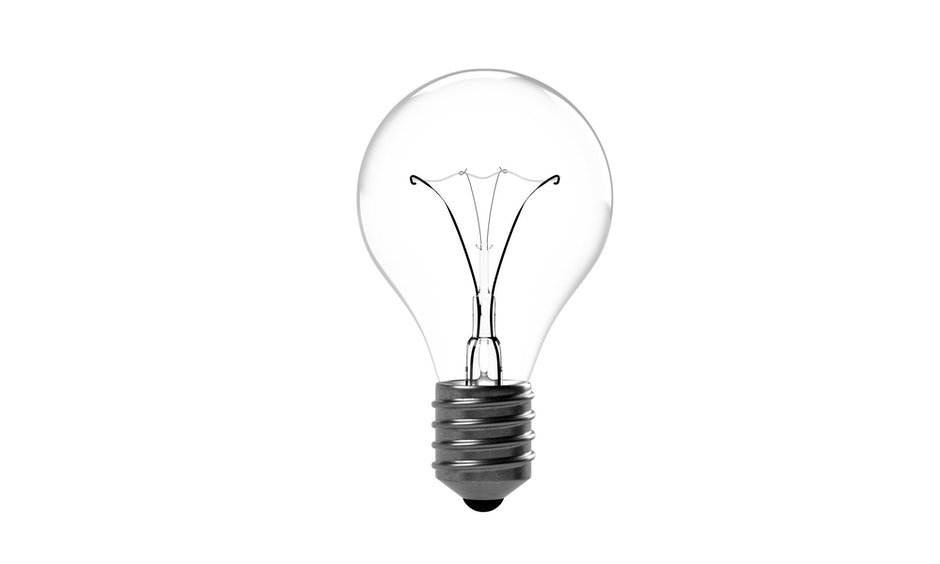 Light Bulb Against White Background