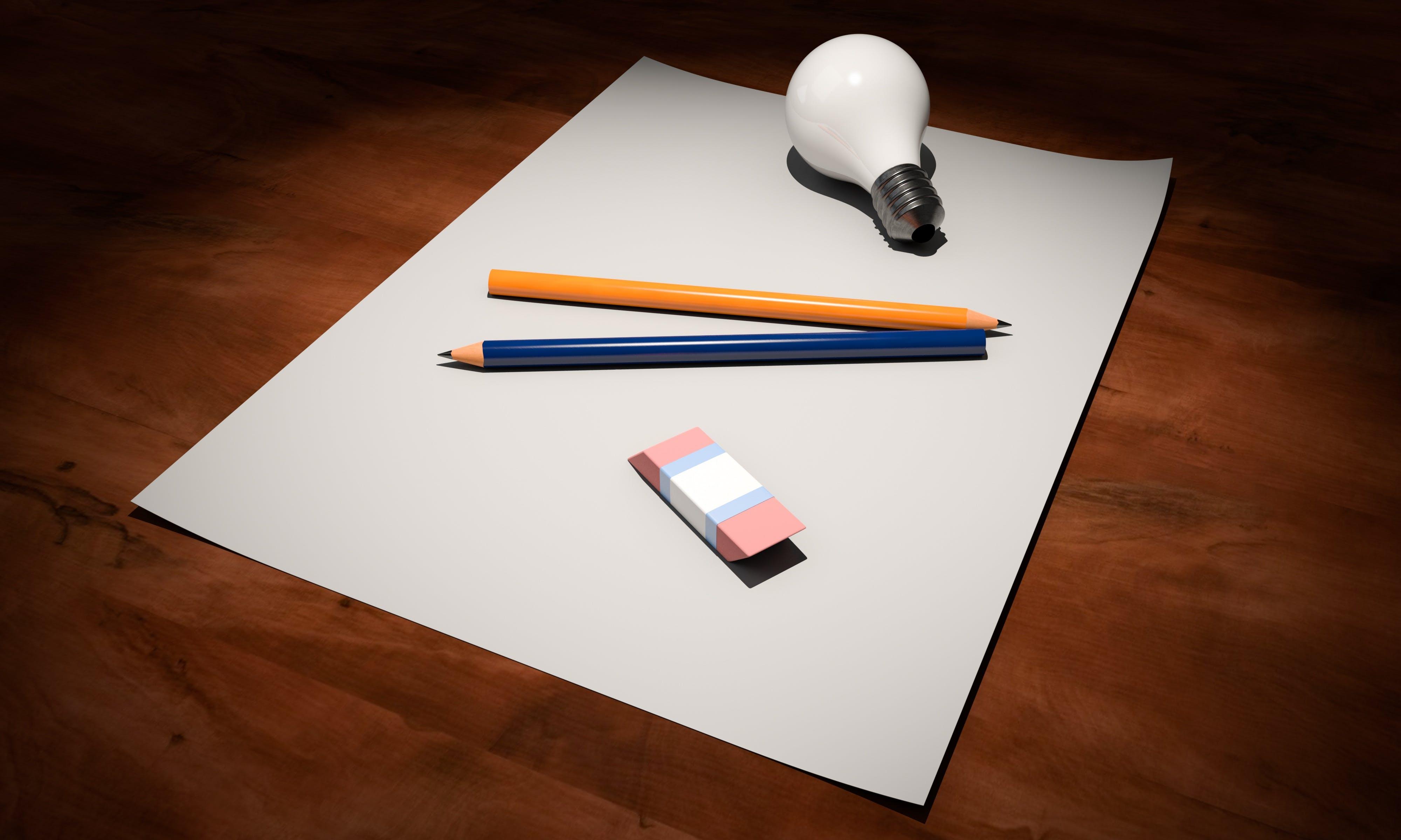 zu bleistifte, büro, denken, design