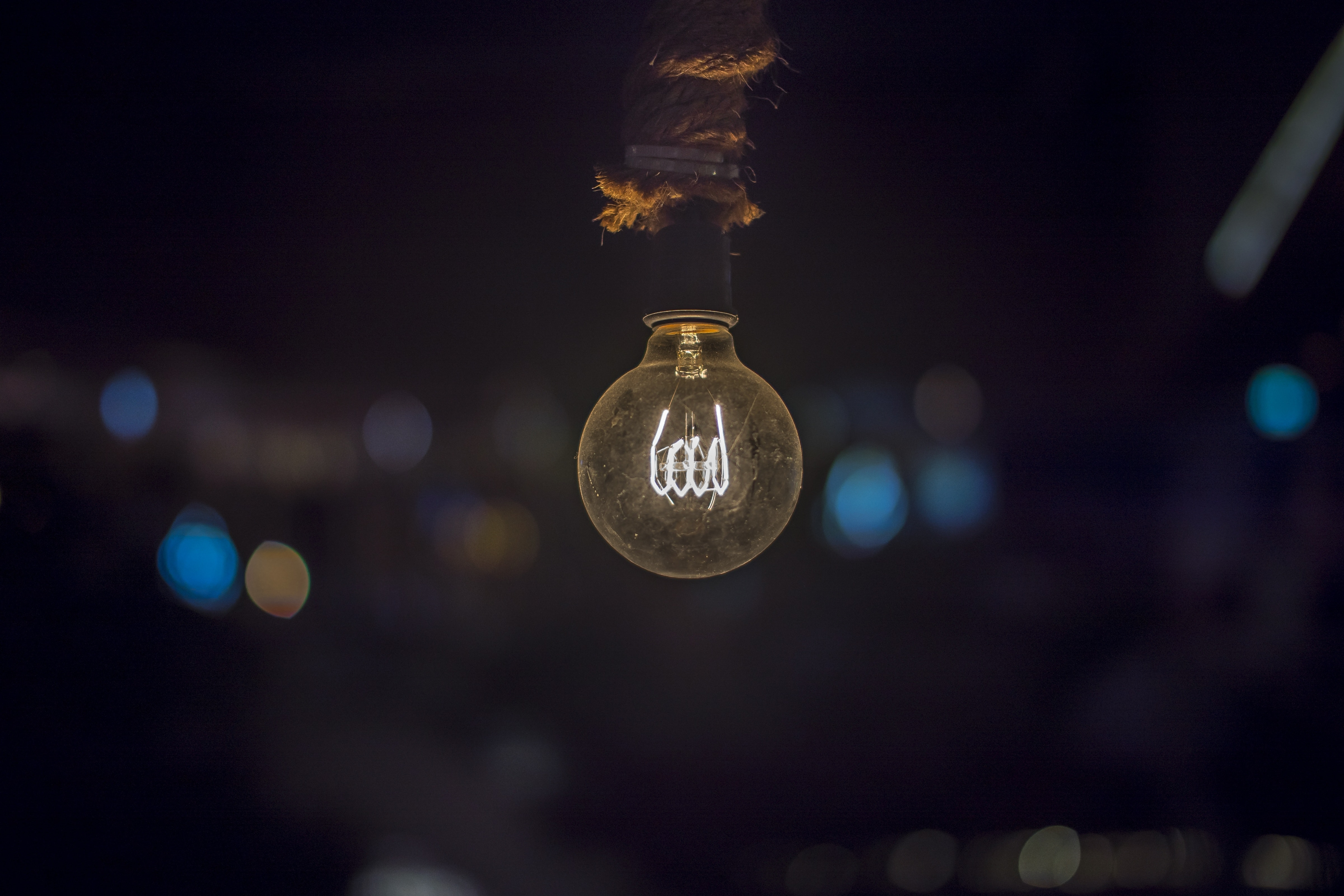 Free stock photo of dark, light, light bulb