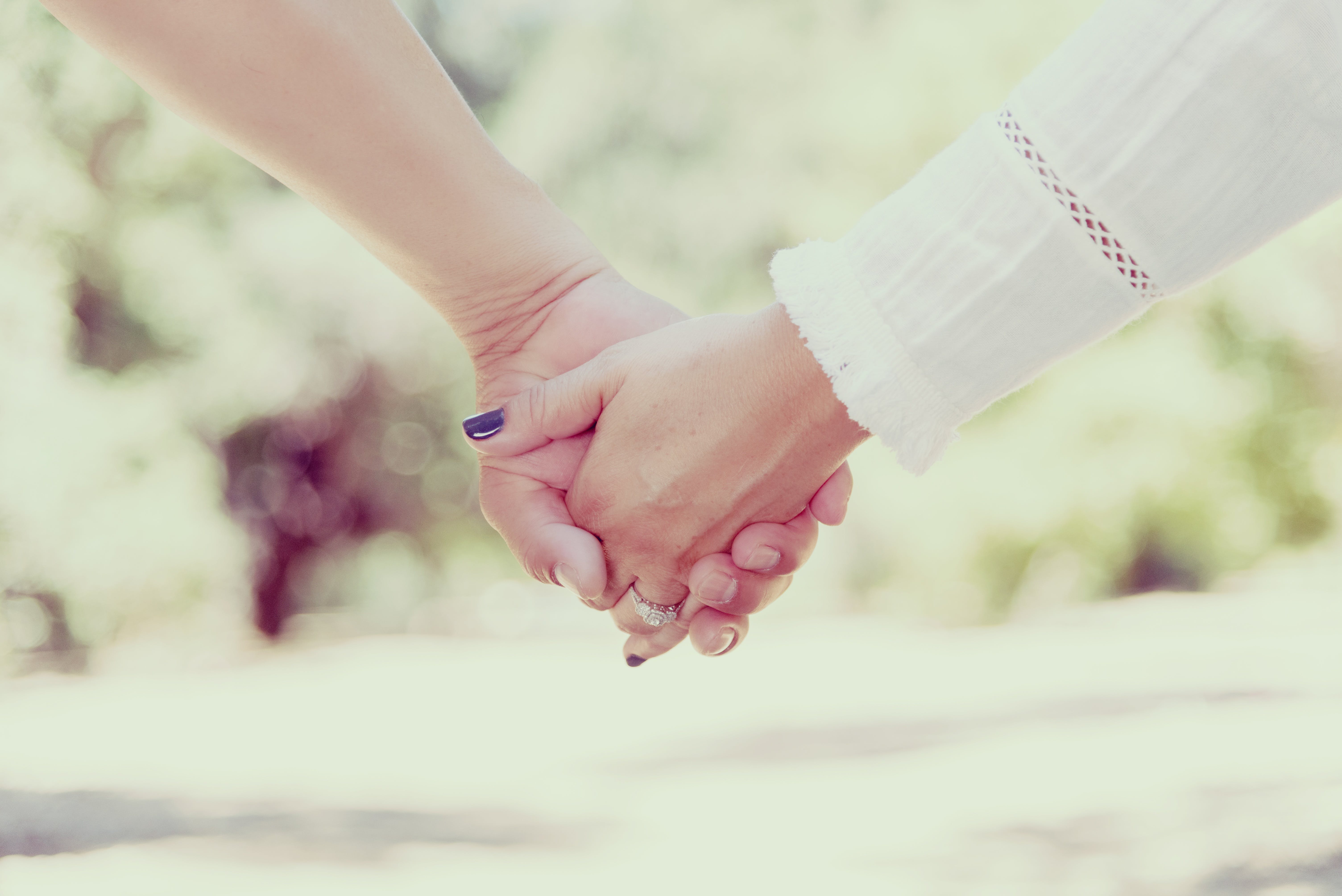 Woman Holding Hands