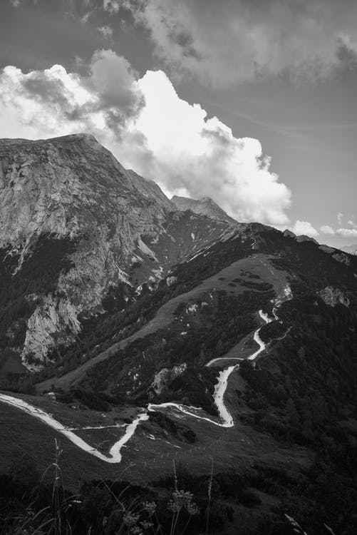 ασπρόμαυρο, βουνό, γαλήνιος