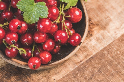 Red Currants on Bowl