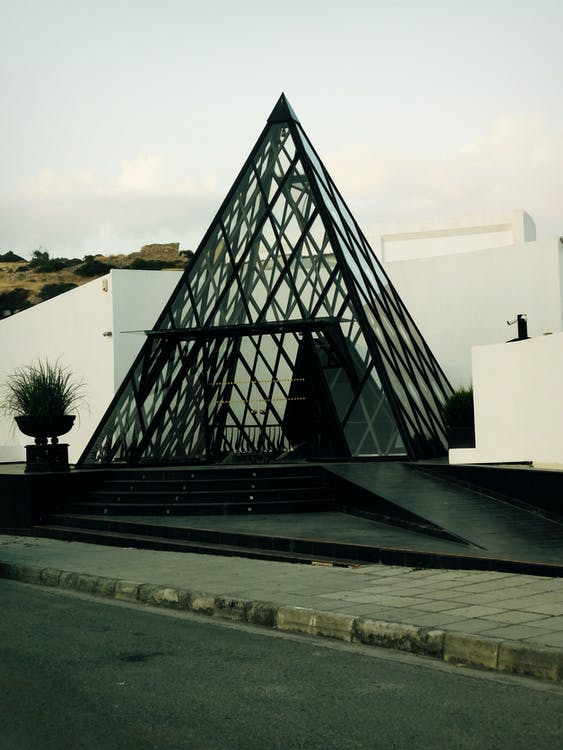 Triangular Structure Near Road