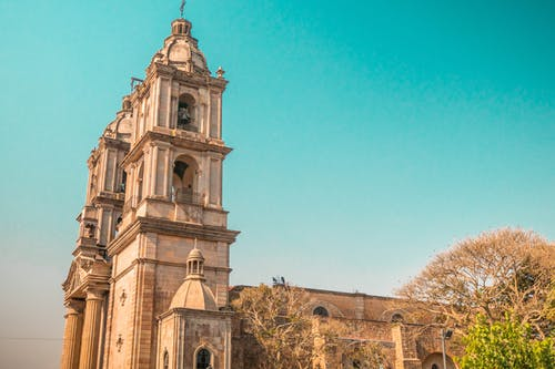 Free stock photo of blue sky, church, mexico, rock