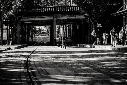 Black And White Photo Of Road