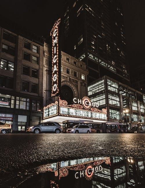 Ingyenes stockfotó alacsony szögű felvétel, autók, belváros, belvárosi chicago témában