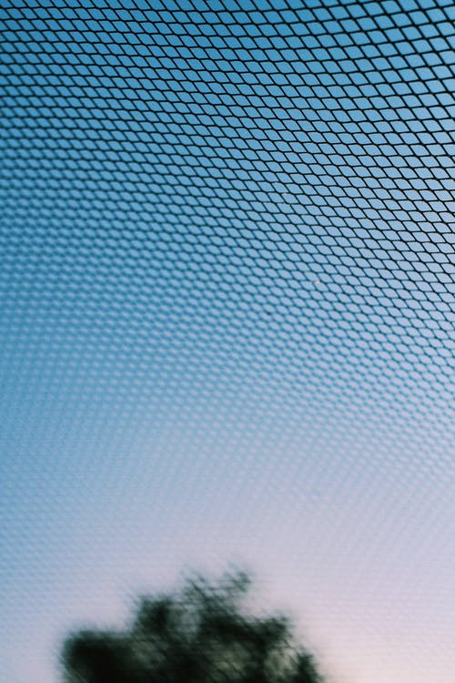 net under blue skies