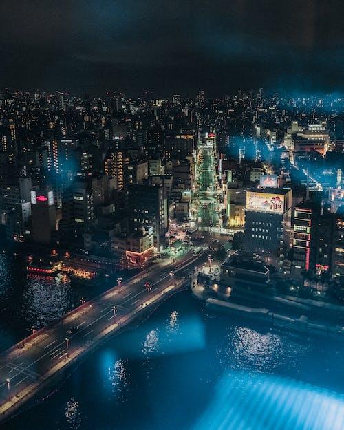 Free stock photo of advertisement, bridge, japan, neon