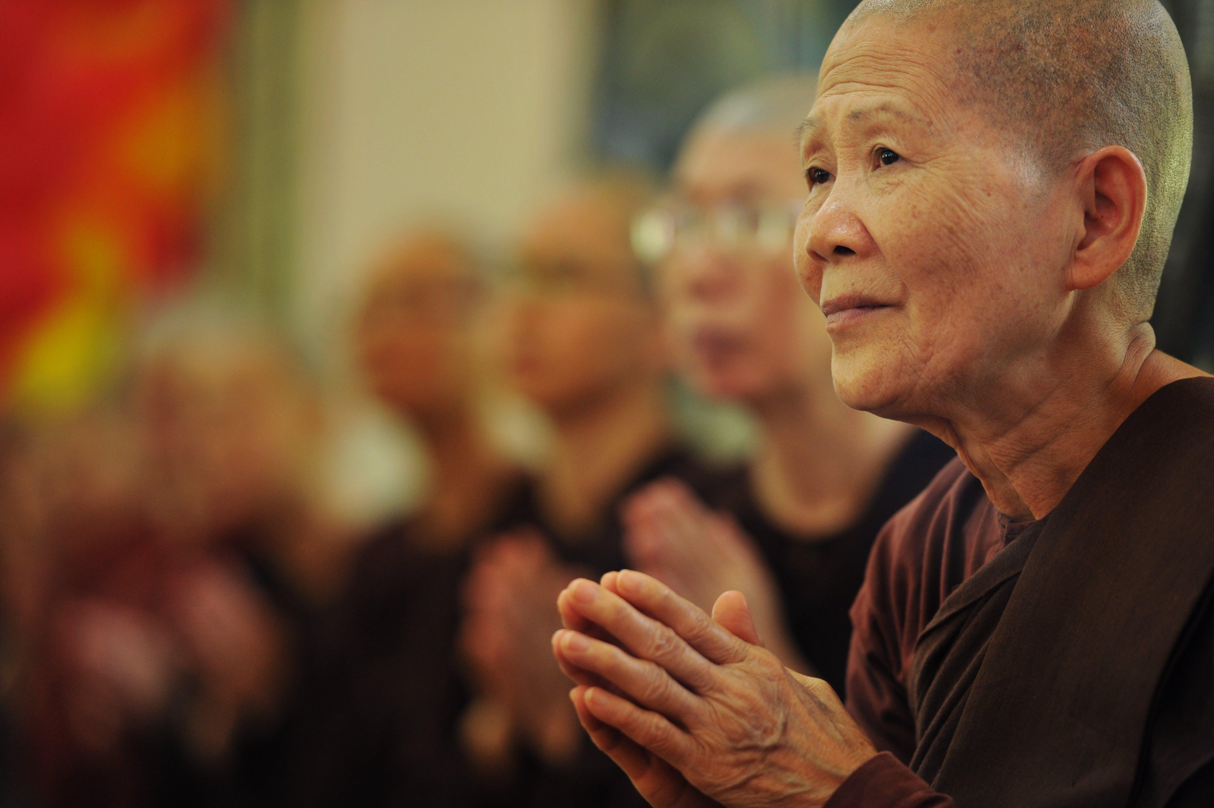 Kostenloses Stock Foto zu anbetung, buddhismus, frau, geistigkeit