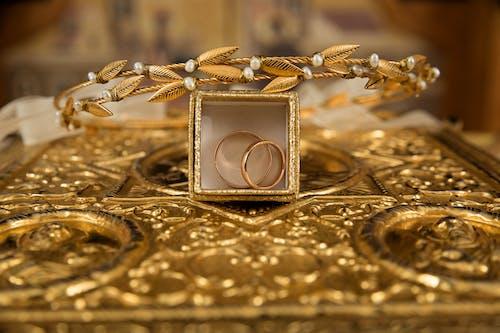 골드, 귀중한, 금, 금반지의 무료 스톡 사진