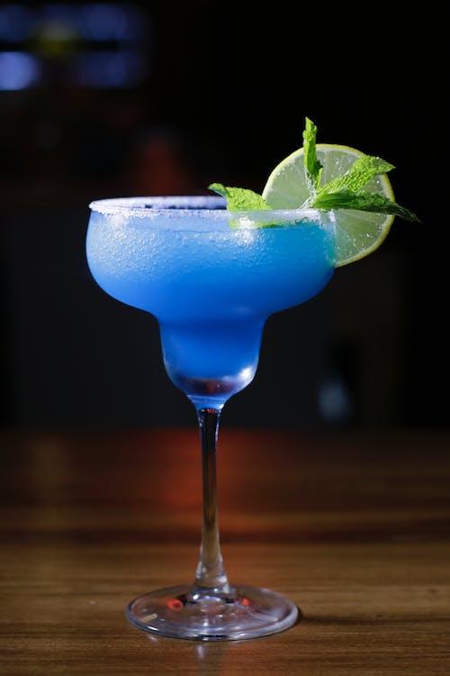 Blue Margarita With Lemon