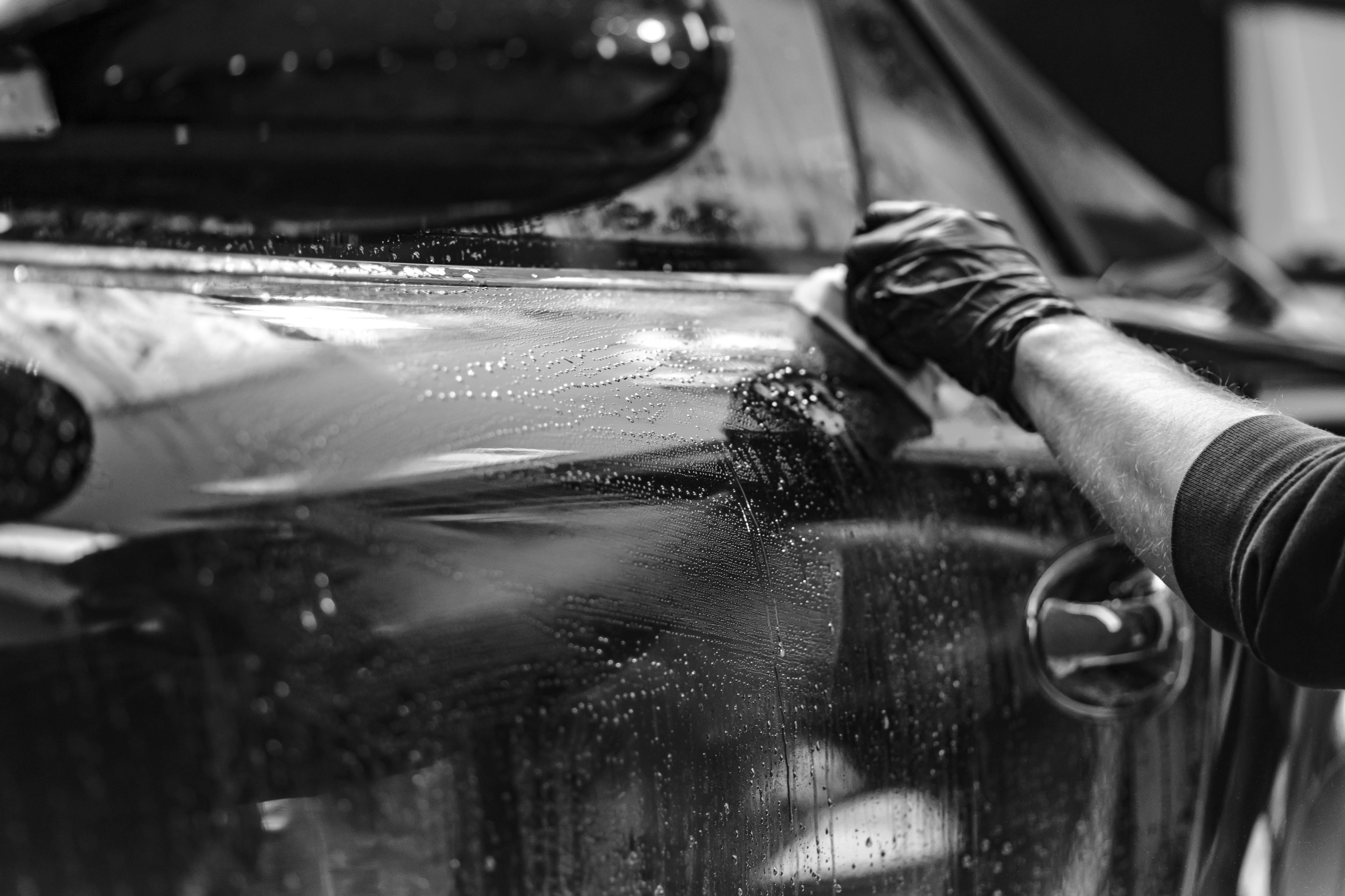 Close-up of Man Driving Car