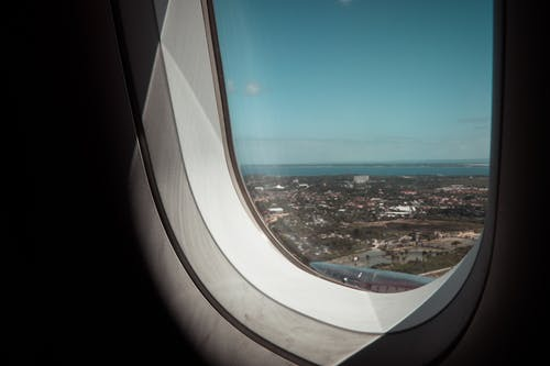 Free stock photo of airplane, airplane window, exotic