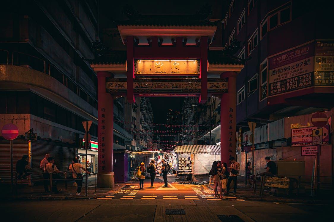 arkitektur, by, gate