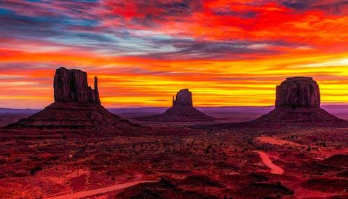 Photos gratuites de arizona, aube, ciel, ciel orange