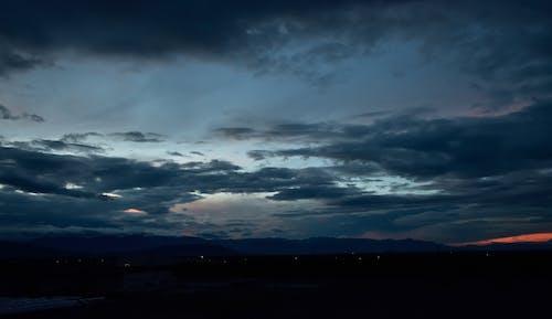 คลังภาพถ่ายฟรี ของ กว้าง, การถ่ายภาพทิวทัศน์, ตะวันลับฟ้า, บรรยากาศตอนเย็น