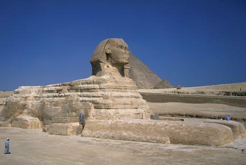 Бесплатное стоковое фото с Археология, архитектура, большой сфинкс, голубое небо
