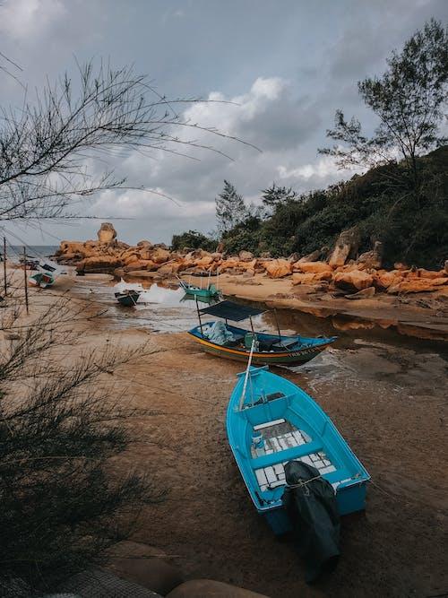 Gratis arkivbilde med båter, blå, dagslys, elv