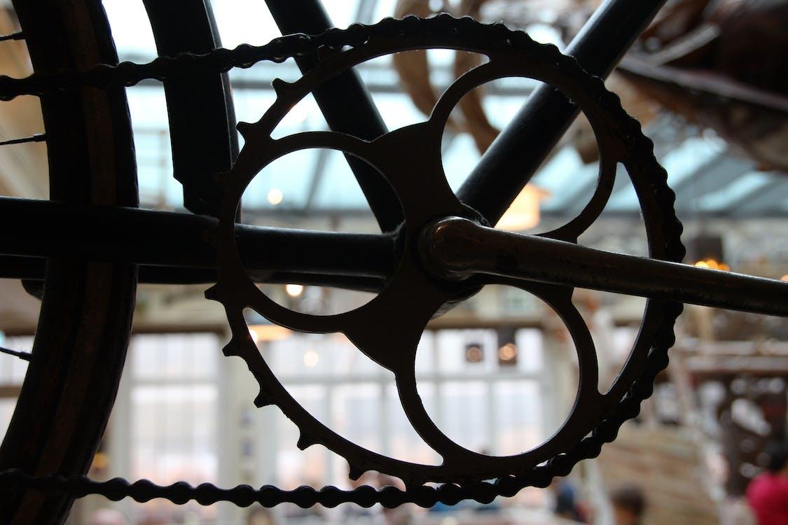 bicikli, felszerelés, fém