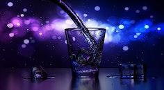 drink, ice, bokeh