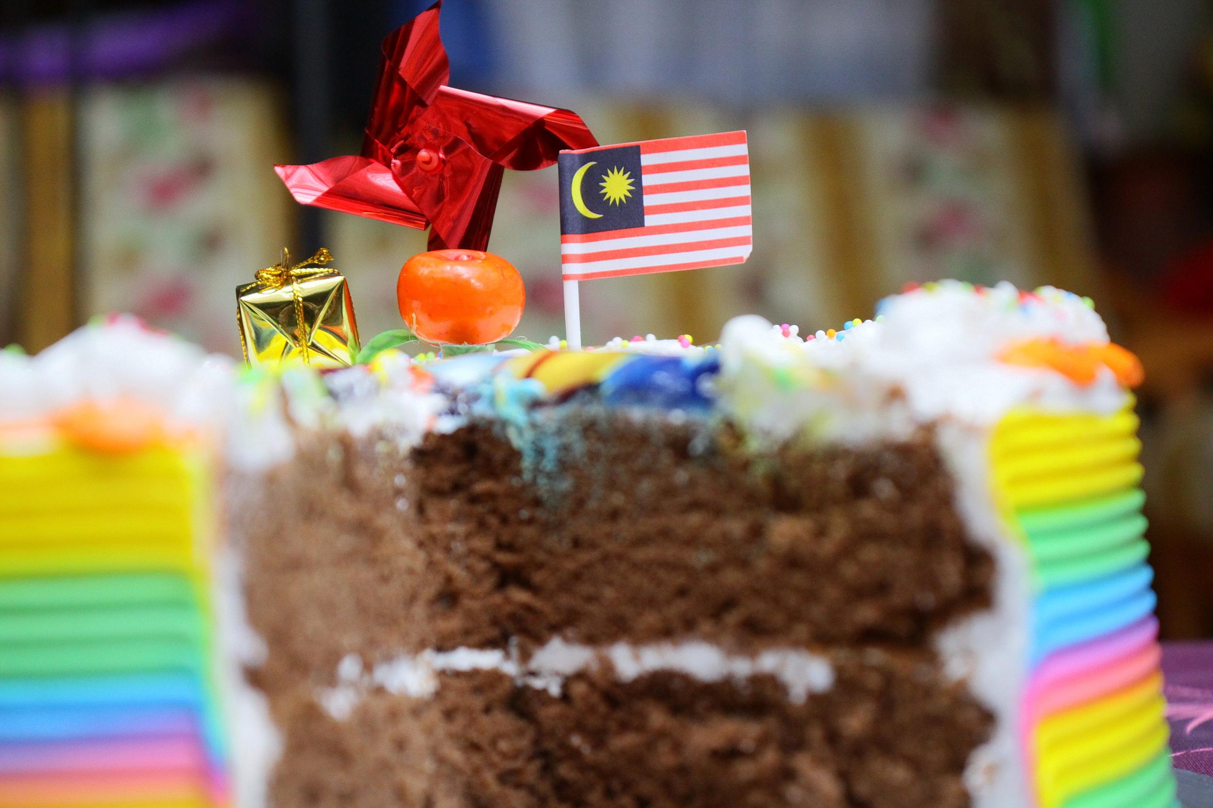 Close-up of Birthday Cake