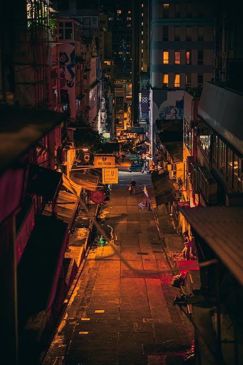 Immagine gratuita di aleksandar pasaric, hong kong, notte, photogrtaphy di strada