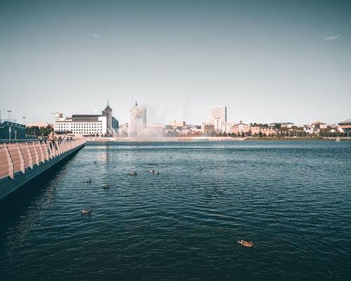 Gratis arkivbilde med arkitektur, bro, bukt, by