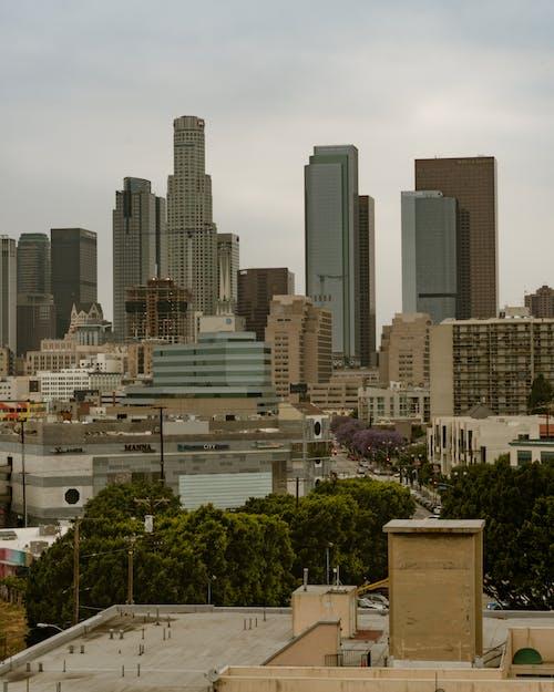Foto profissional grátis de arranha-céus, centro da cidade, cidade, downtown la
