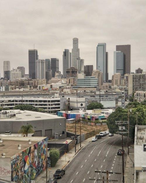la 다운타운, 고층 건물, 도시, 도시 풍경의 무료 스톡 사진