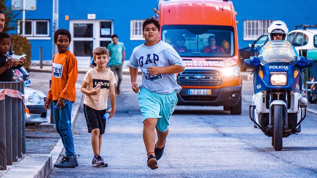 ambulanza, azione, bambini