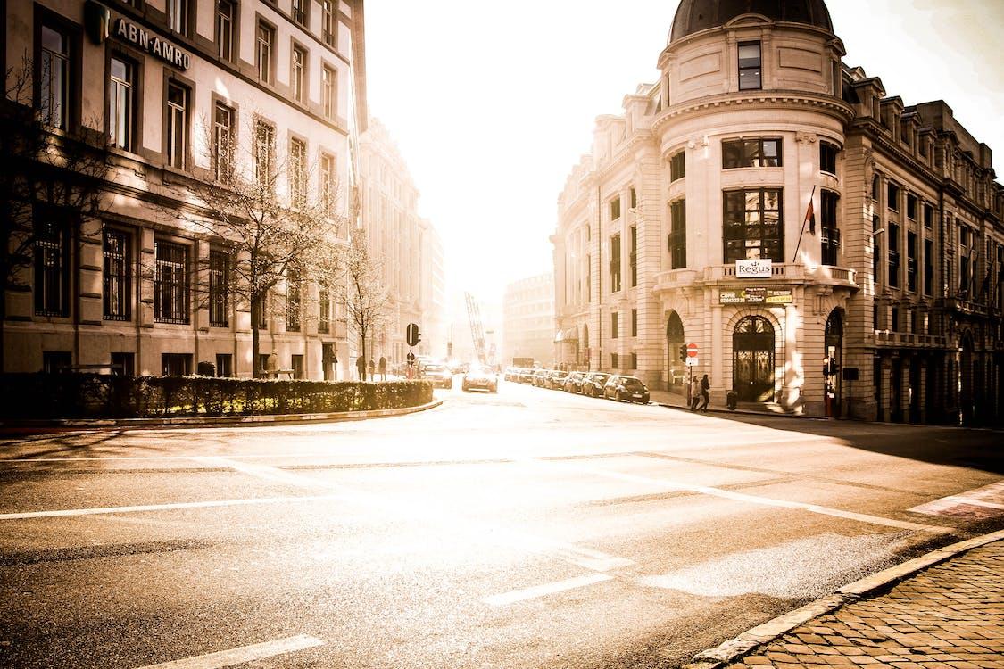 architektúra, budovy, cesta