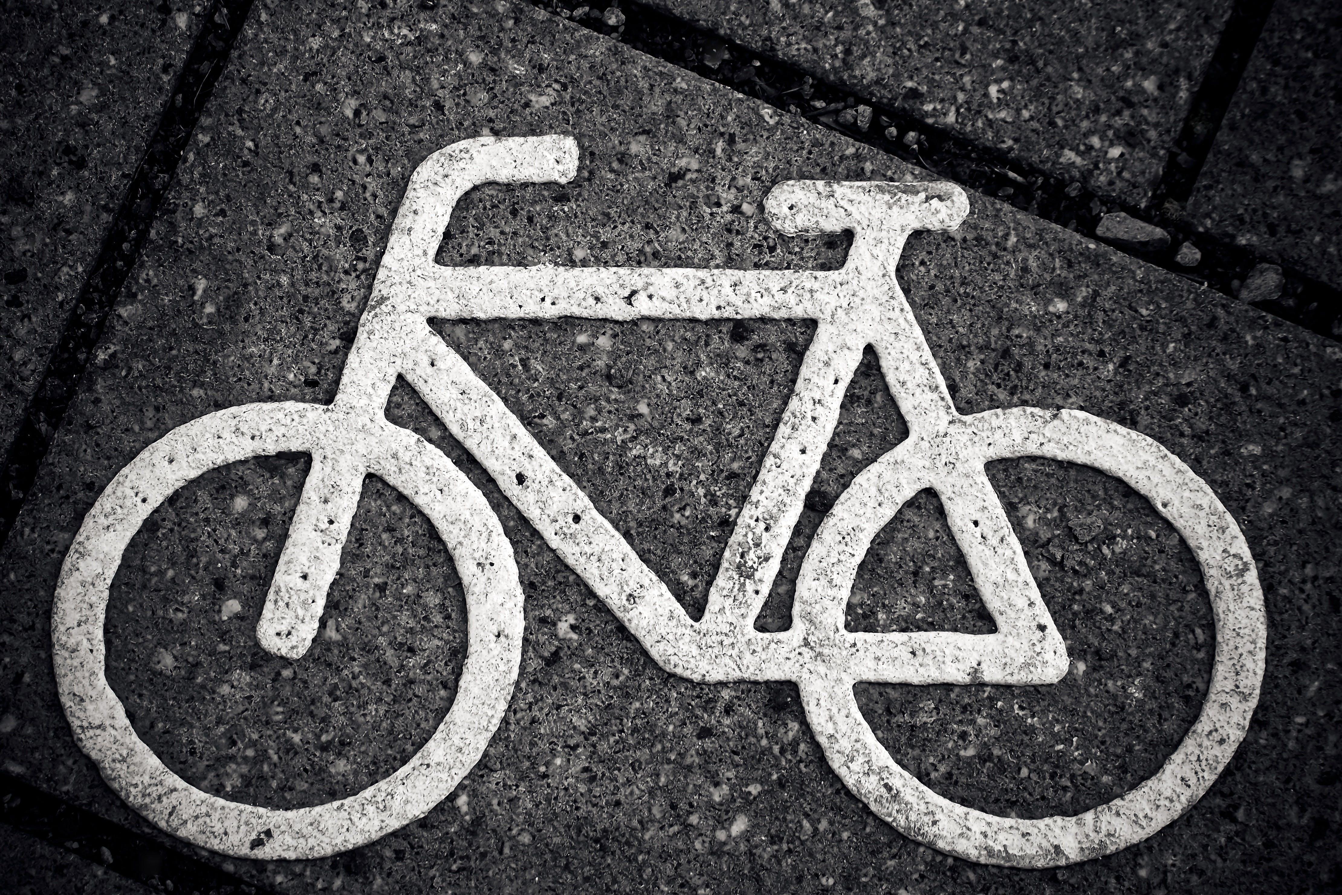 aszfalt, biciklizés, design