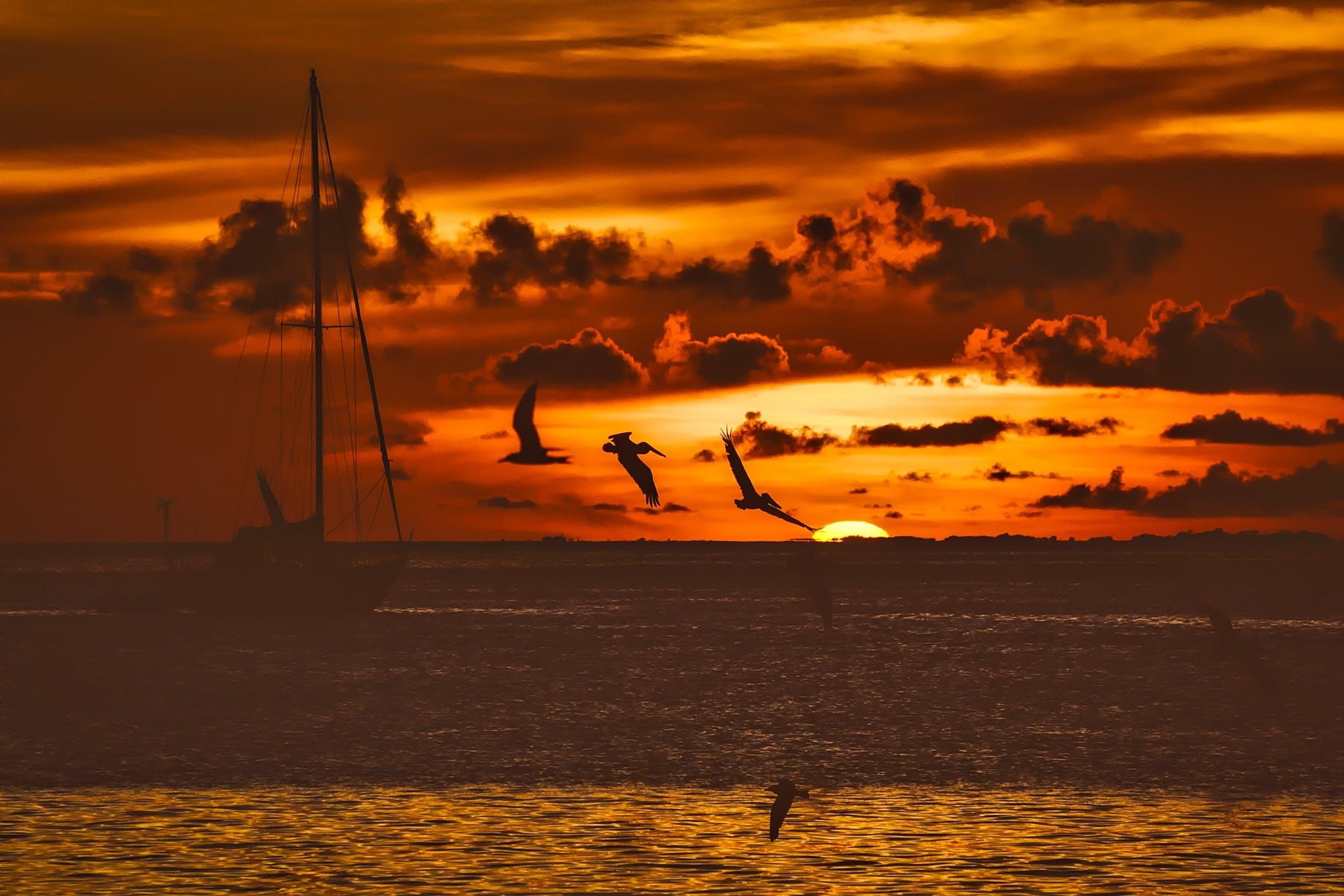 Kostenloses Stock Foto zu bunt, dämmerung, fischerboot, hdr