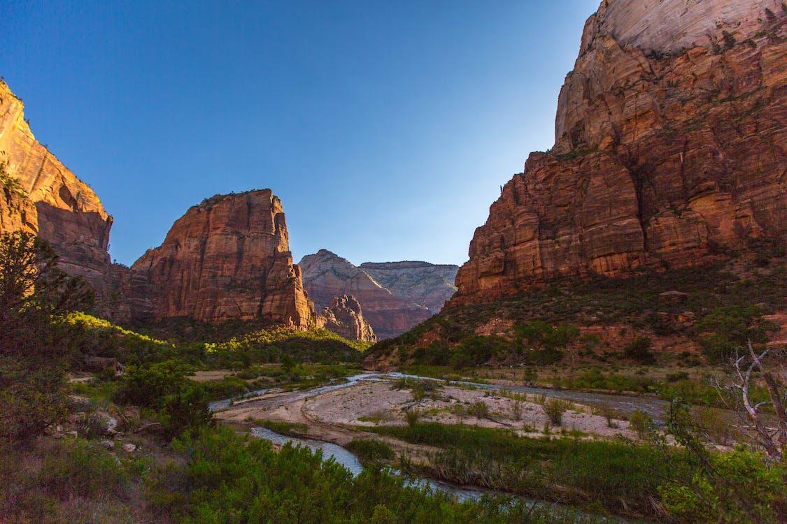 canyon, elv, fjell