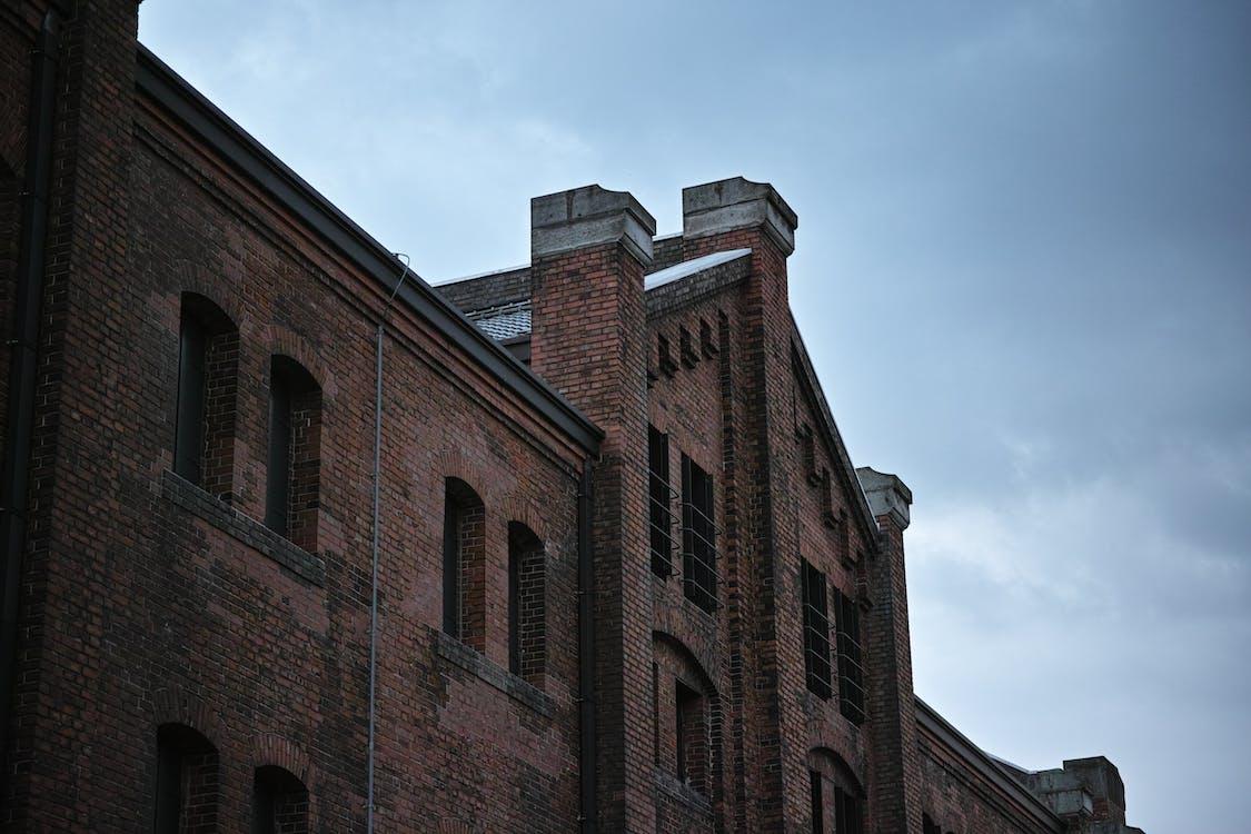 arquitectura, edificio, foto de ángulo bajo