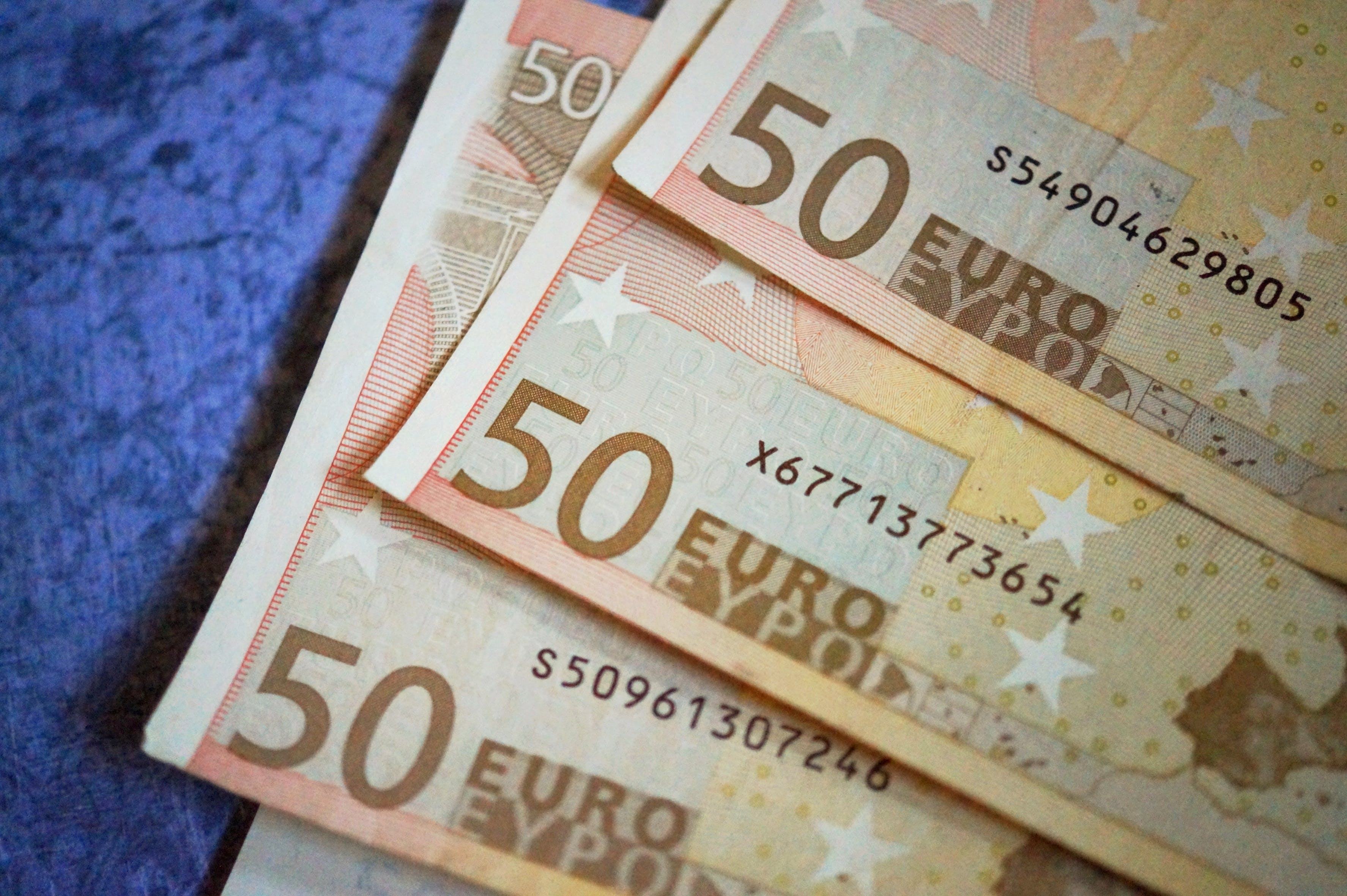 Close-up of 50 Euro Money