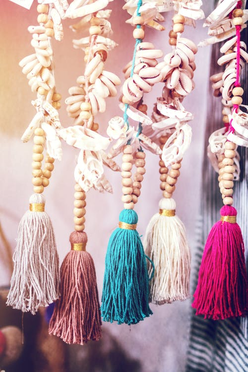 Five Assorted-color Tassels