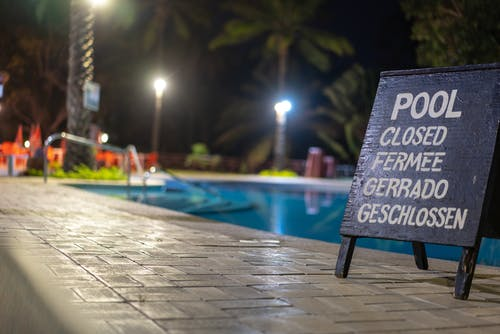 Free stock photo of night, outdoor, pool