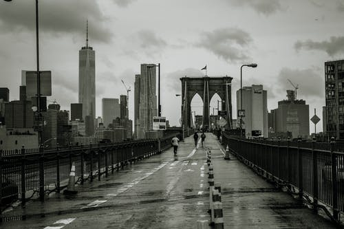 Imagine de stoc gratuită din alb-negru, brooklyn, new york, pod