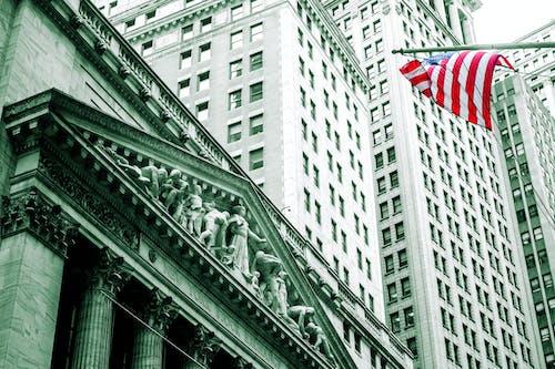 Imagine de stoc gratuită din bani, bursă de valori, new york, wall street