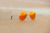 sunset, beach, sunglasses