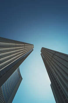 Free stock photo of buildings, skyscrapers, architecture, low angle shot